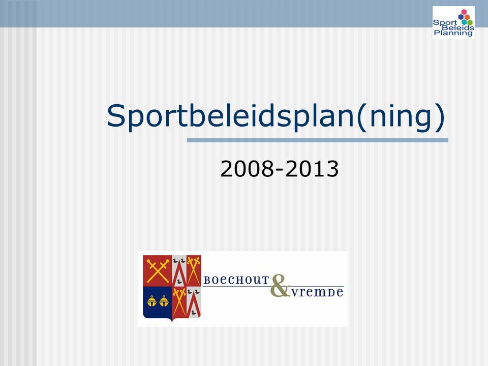 Sportbeleidsplan(ning) 2008-2013