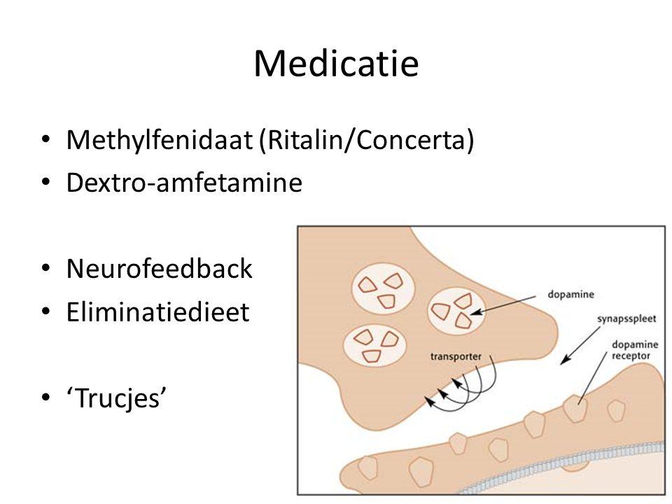 Medicatie Methylfenidaat (Ritalin/Concerta) Dextro-amfetamine Neurofeedback Eliminatiedieet 'Trucjes'