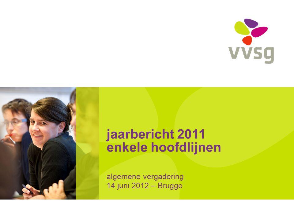 jaarbericht 2011 enkele hoofdlijnen algemene vergadering 14 juni 2012 – Brugge