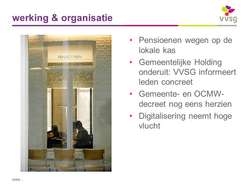 VVSG - Pensioenen wegen op de lokale kas Gemeentelijke Holding onderuit: VVSG informeert leden concreet Gemeente- en OCMW- decreet nog eens herzien Di