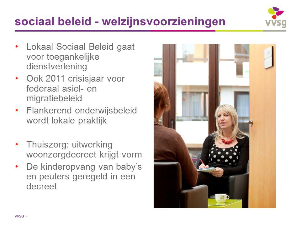 VVSG - Lokaal Sociaal Beleid gaat voor toegankelijke dienstverlening Ook 2011 crisisjaar voor federaal asiel- en migratiebeleid Flankerend onderwijsbe