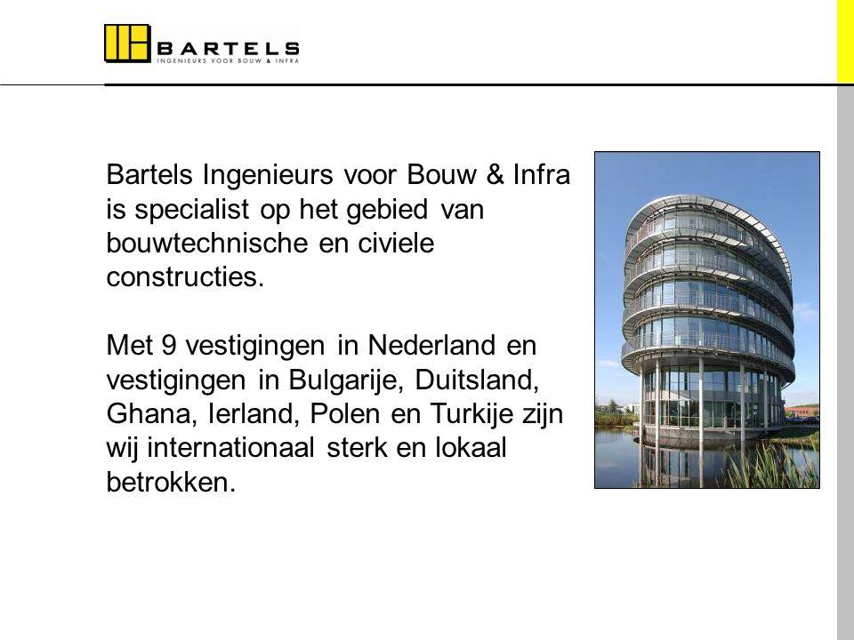 Internationaal sterk, lokaal betrokken Bartels Ingenieurs voor Bouw & Infra is specialist op het gebied van bouwtechnische en civiele constructies. Me