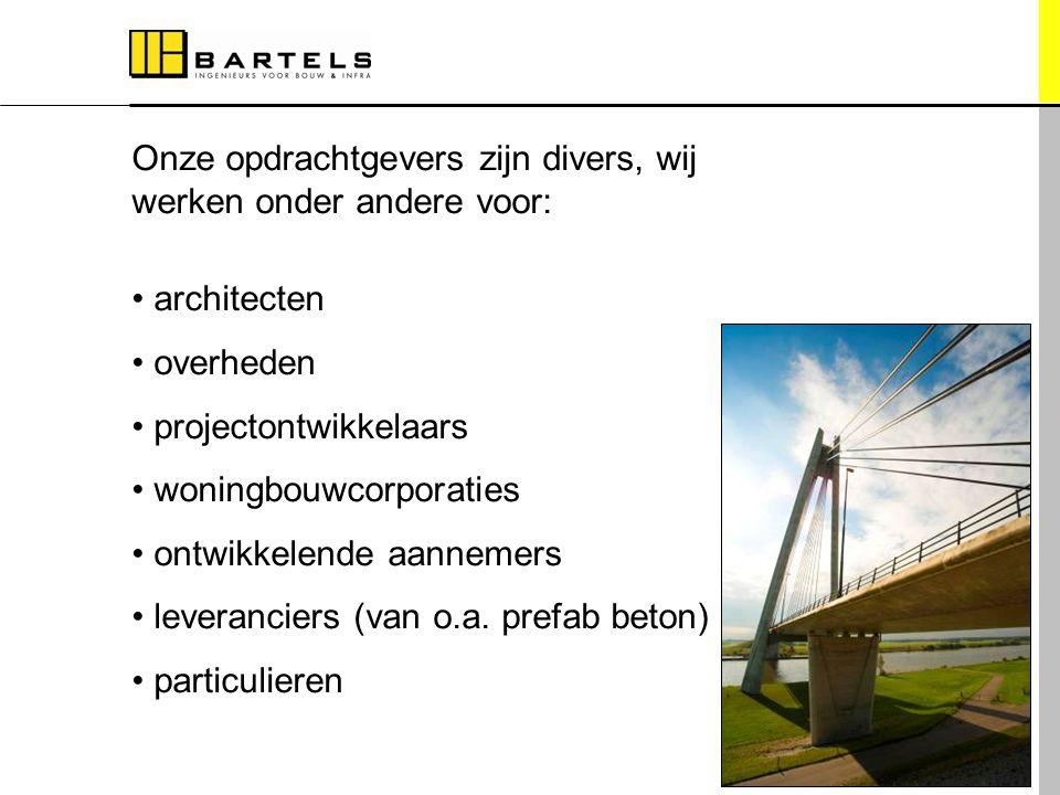 Onze opdrachtgevers zijn divers, wij werken onder andere voor: architecten overheden projectontwikkelaars woningbouwcorporaties ontwikkelende aannemer
