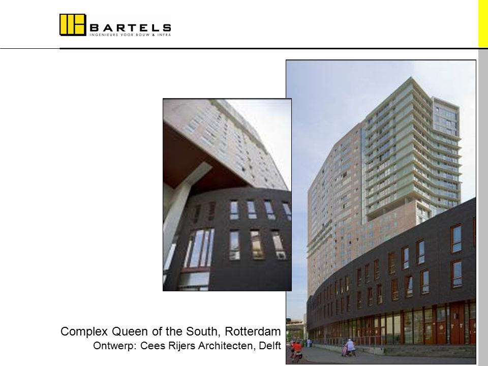 Referentieprojecten Complex Queen of the South, Rotterdam Ontwerp: Cees Rijers Architecten, Delft