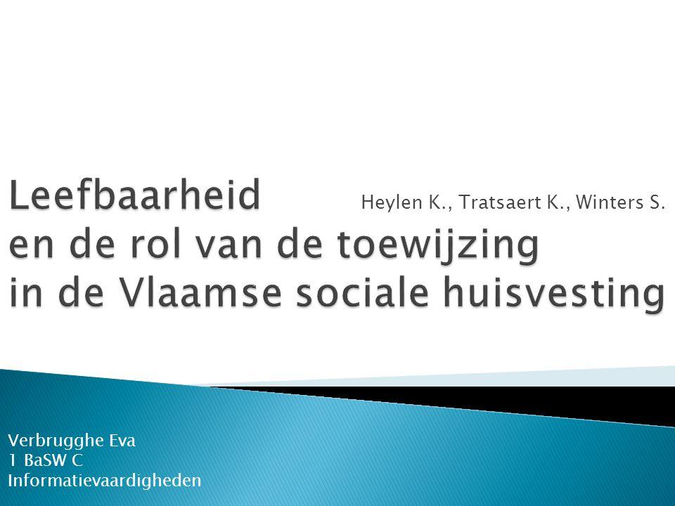 Heylen K., Tratsaert K., Winters S. Verbrugghe Eva 1 BaSW C Informatievaardigheden