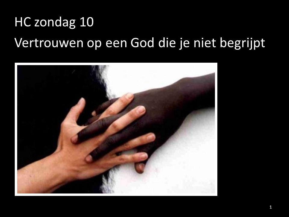 HC zondag 10 Vertrouwen op een God die je niet begrijpt 1