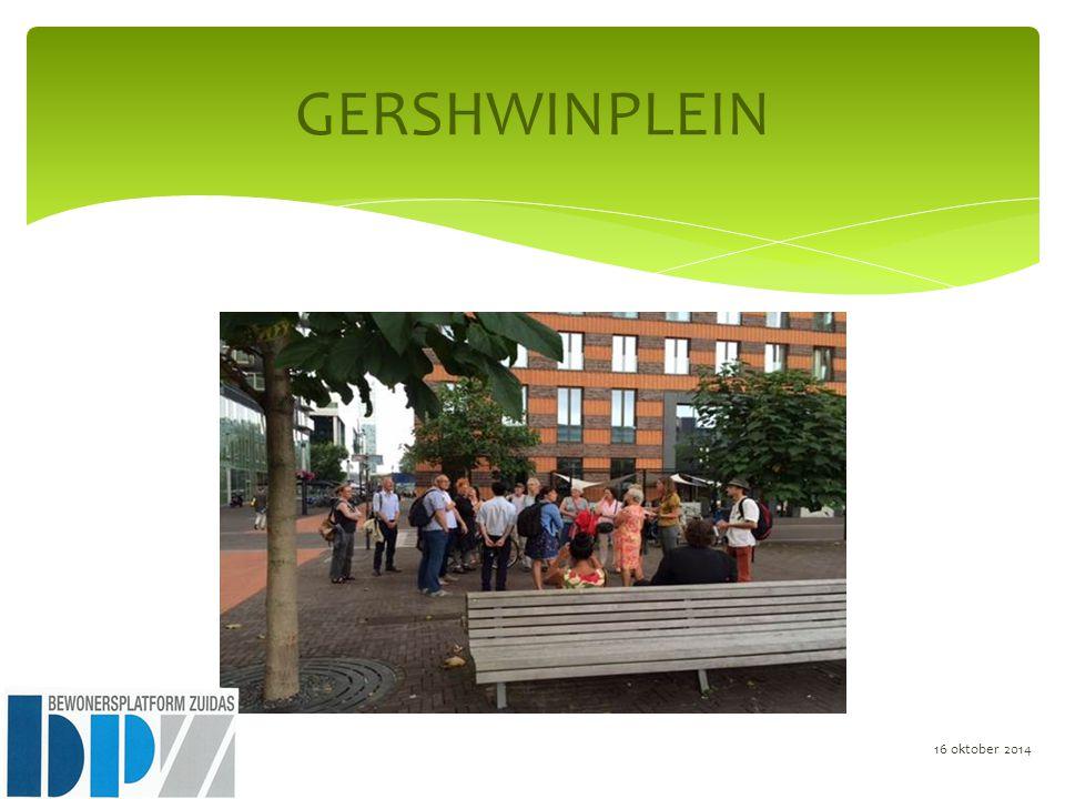 GERSHWINPLEIN 16 oktober 2014