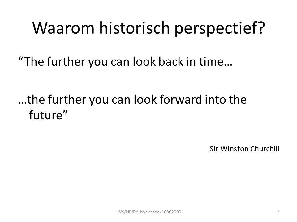 Waarom historisch perspectief.