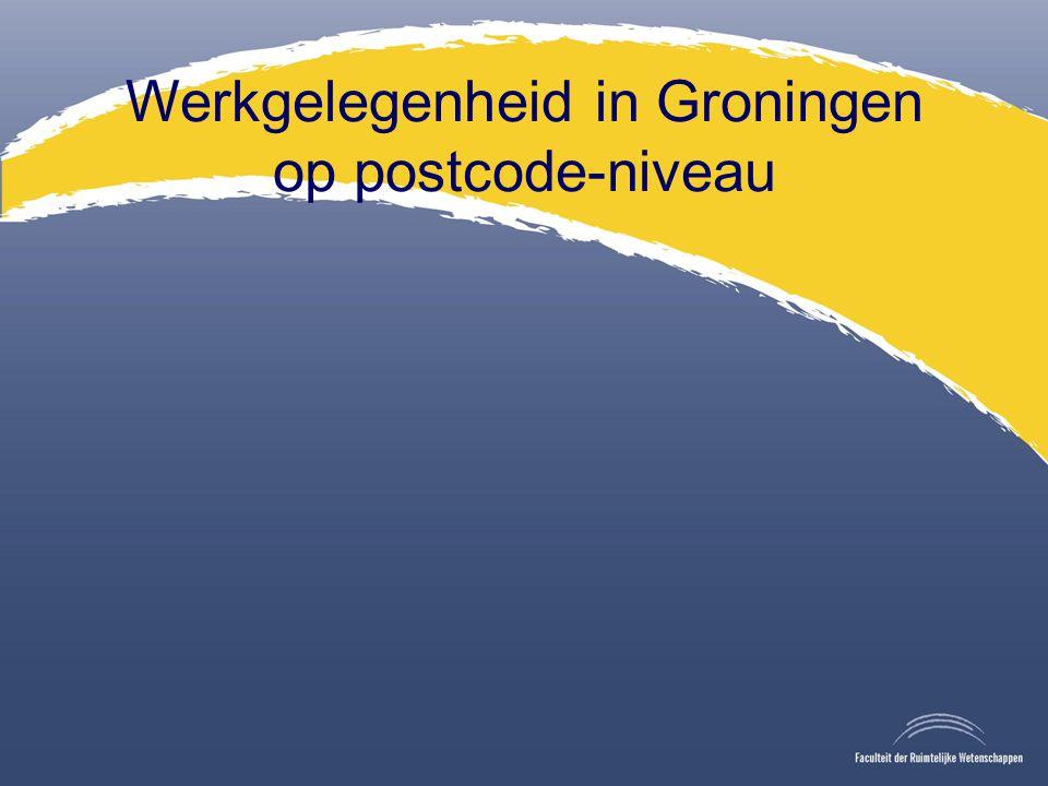Werkgelegenheid in Groningen op postcode-niveau