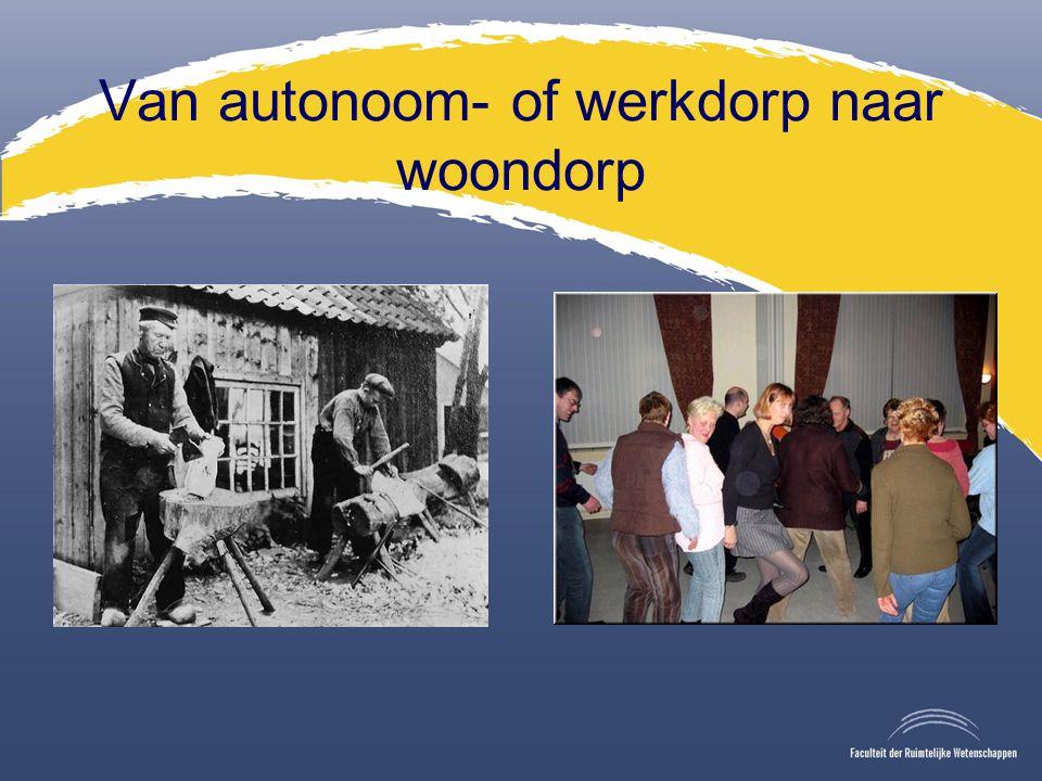 Van autonoom- of werkdorp naar woondorp