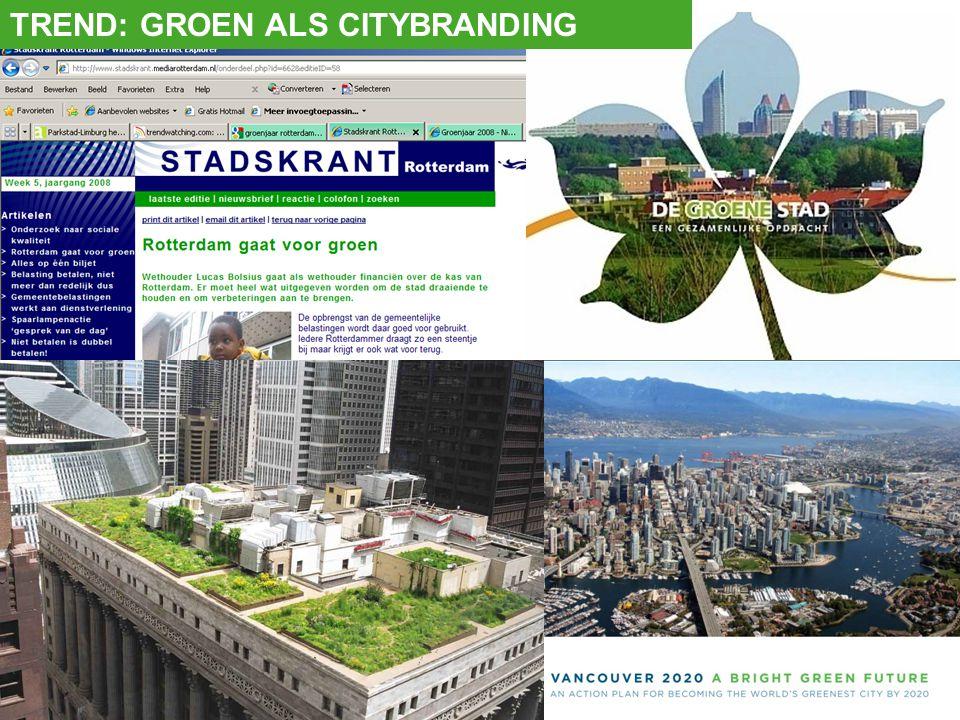 TREND: GROEN ALS CITYBRANDING