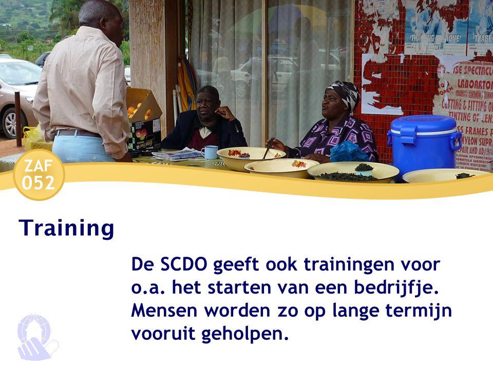 ZAF 052 Training De SCDO geeft ook trainingen voor o.a.