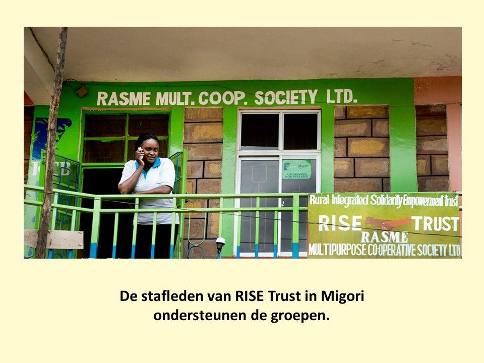 De stafleden van RISE Trust in Migori ondersteunen de groepen.