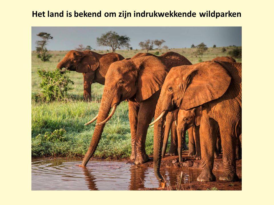 Het land is bekend om zijn indrukwekkende wildparken