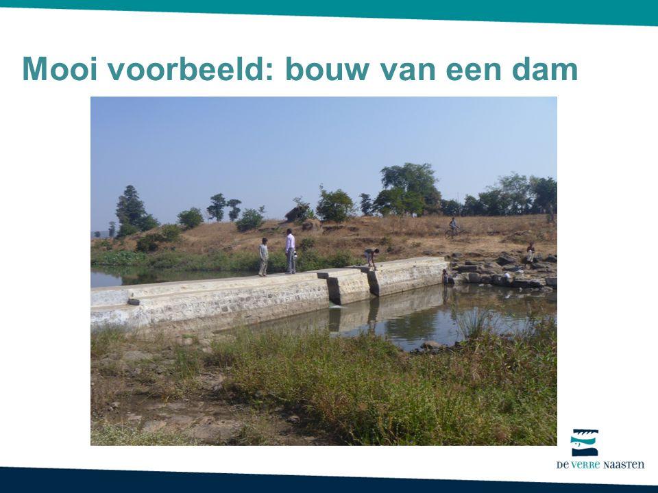 Mooi voorbeeld: bouw van een dam