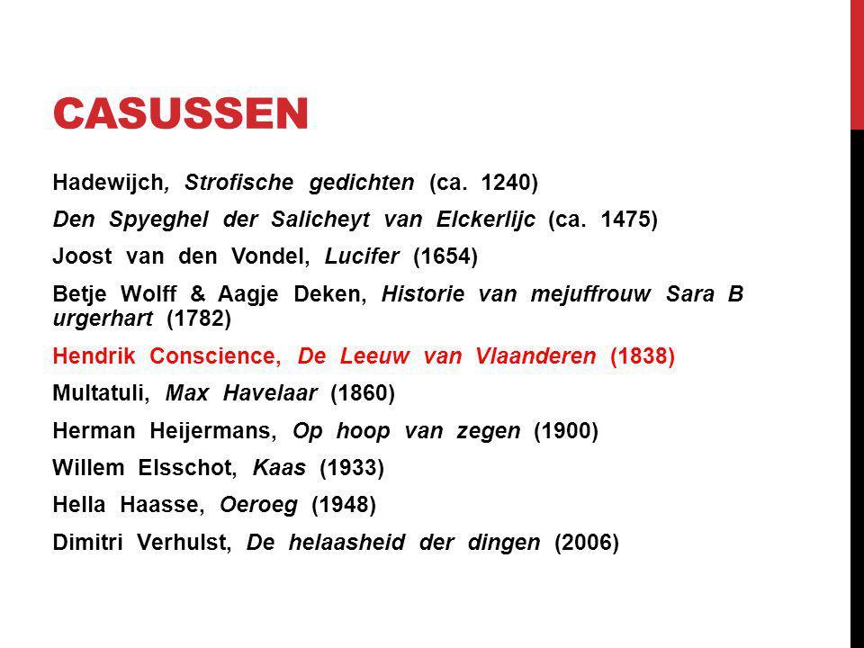 CASUSSEN Hadewijch, Strofische gedichten (ca. 1240) Den Spyeghel der Salicheyt van Elckerlijc (ca.
