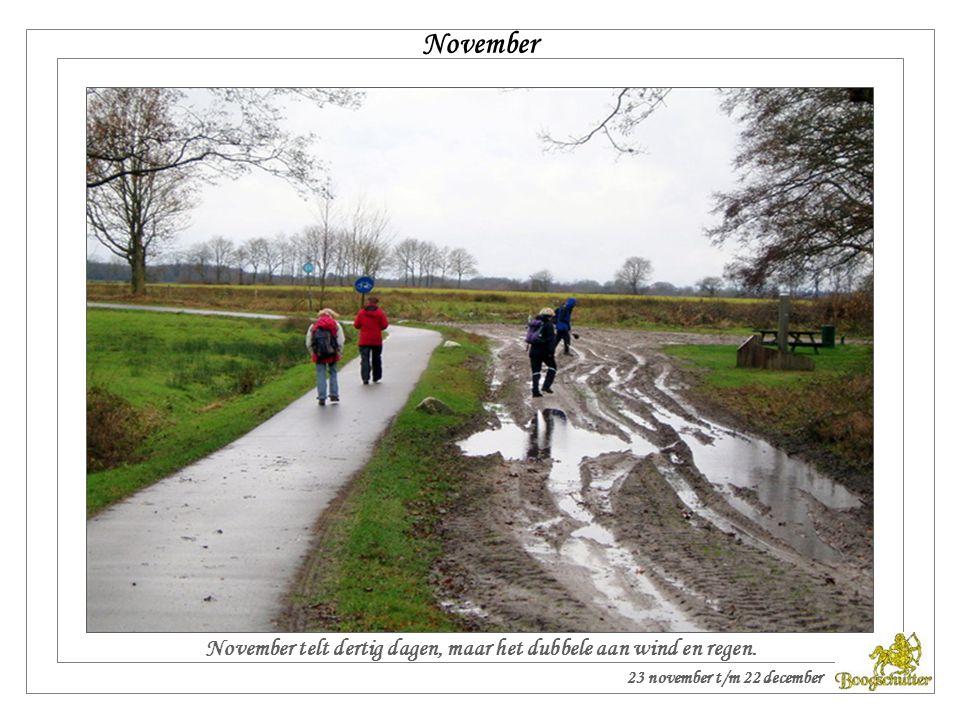 Is oktober warm en fijn, het zal een sterke winter zijn. Oktober 24 oktober t/m 22 november