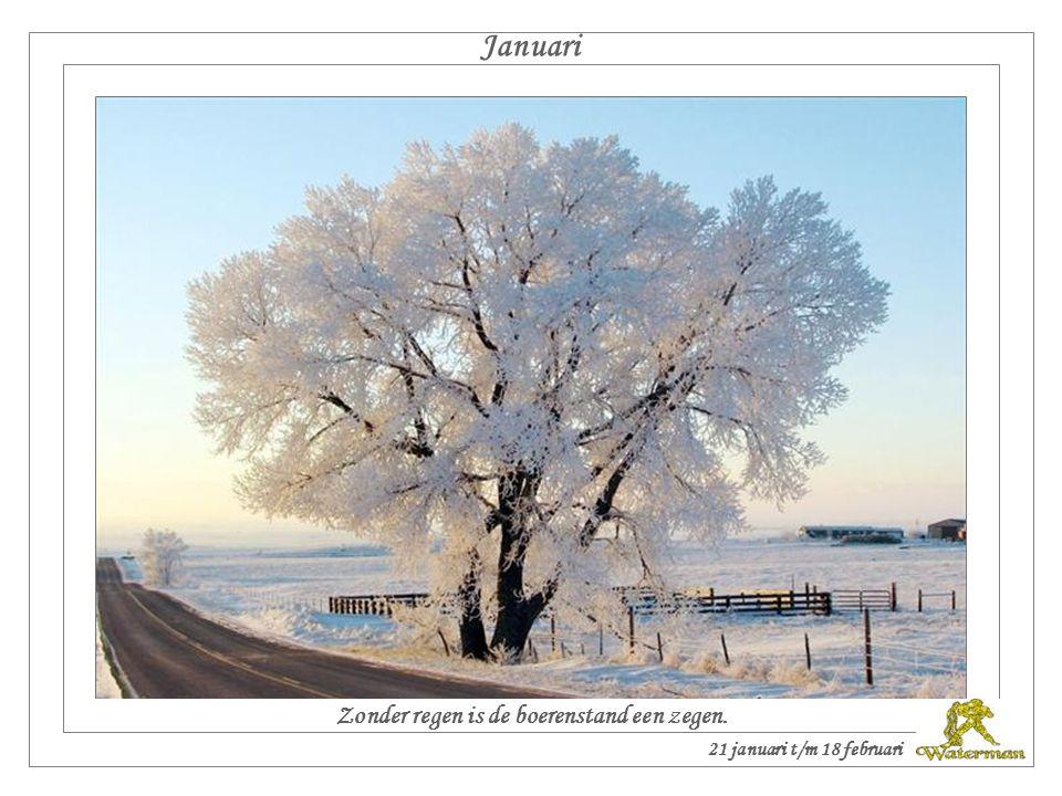 Twaalf maanden van het jaar met weerspreuken. De groeten uit Veendam. 23 december t/m 20 januari
