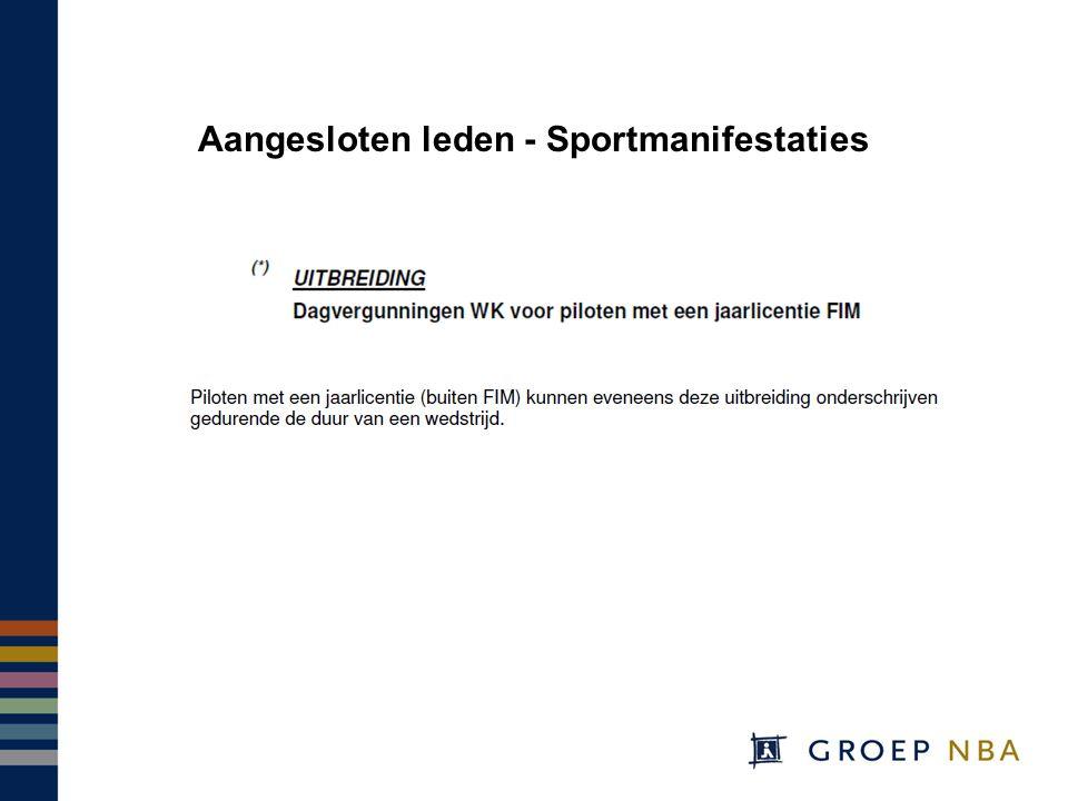 Aangesloten leden - Sportmanifestaties