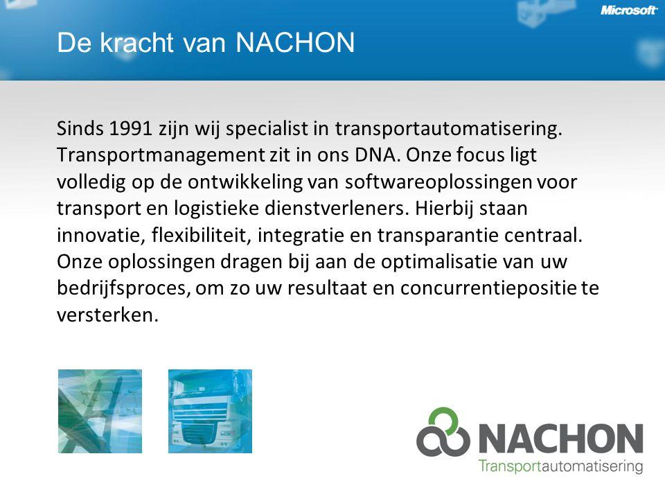 De kracht van NACHON Sinds 1991 zijn wij specialist in transportautomatisering.