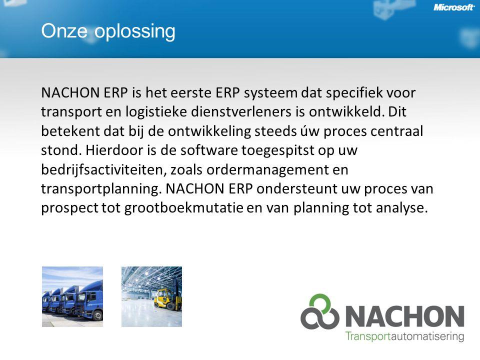 Onze oplossing NACHON ERP is het eerste ERP systeem dat specifiek voor transport en logistieke dienstverleners is ontwikkeld.
