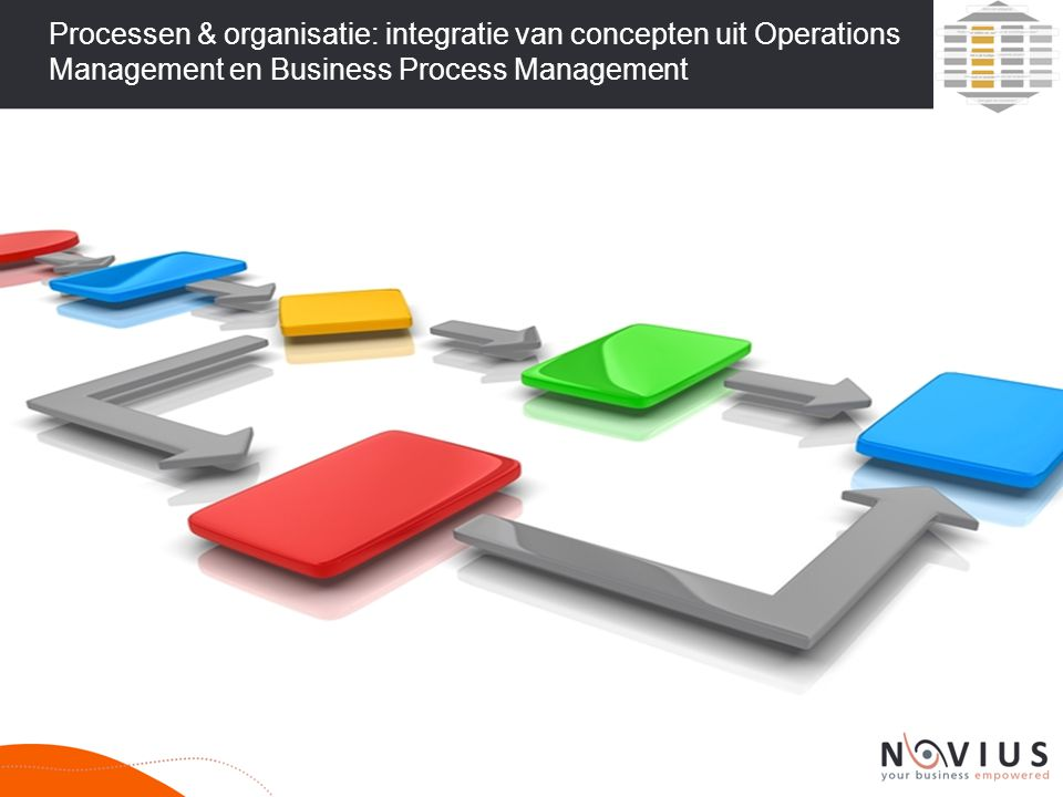 Processen & organisatie: integratie van concepten uit Operations Management en Business Process Management