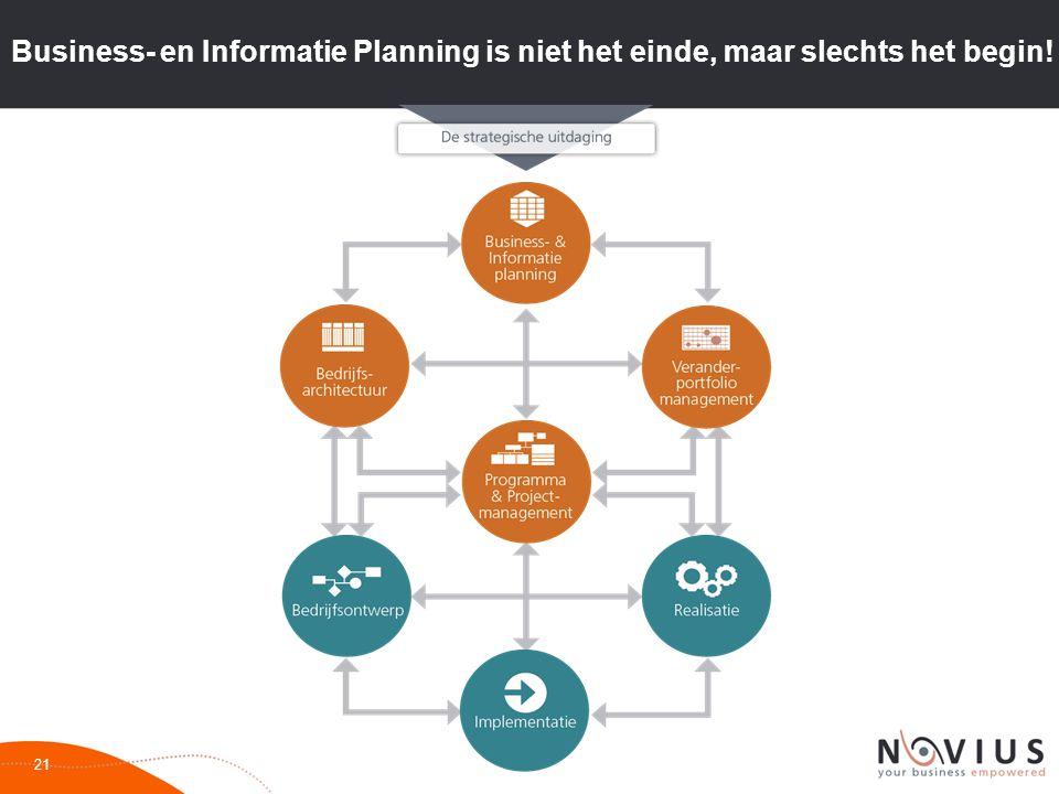 Business- en Informatie Planning is niet het einde, maar slechts het begin! 21