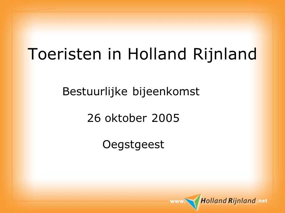 Toeristen in Holland Rijnland Bestuurlijke bijeenkomst 26 oktober 2005 Oegstgeest