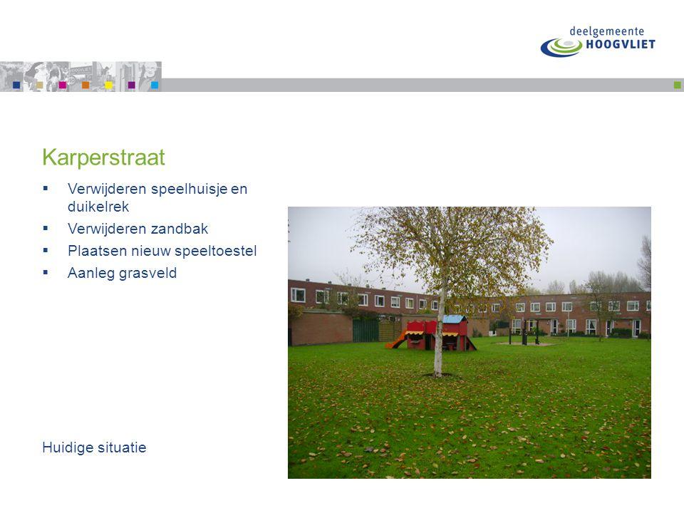 Nieuw speeltoestel Karperstraat