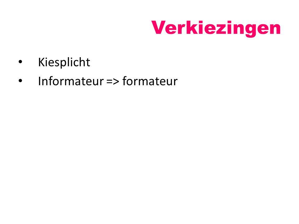 Kiesplicht Informateur => formateur Verkiezingen