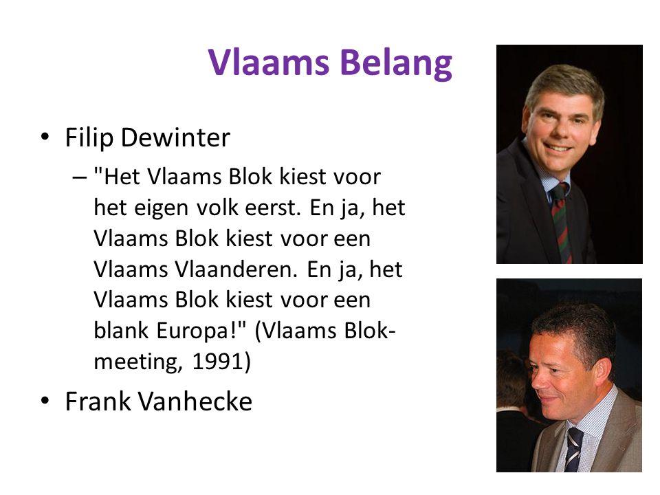 Vlaams Belang Filip Dewinter – Het Vlaams Blok kiest voor het eigen volk eerst.