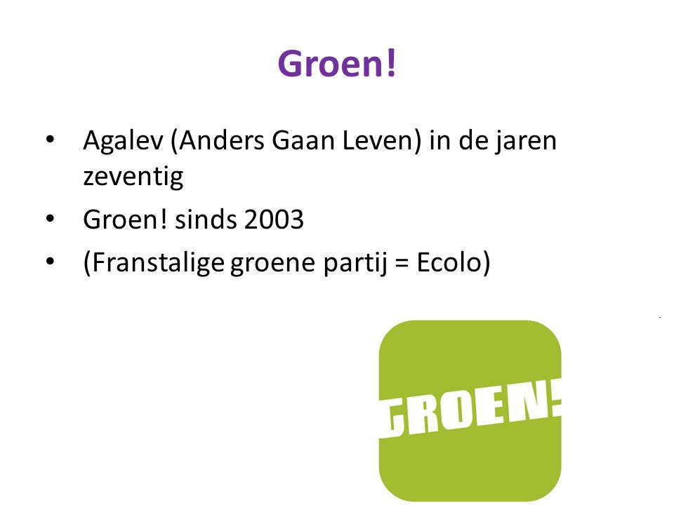 Groen.Agalev (Anders Gaan Leven) in de jaren zeventig Groen.