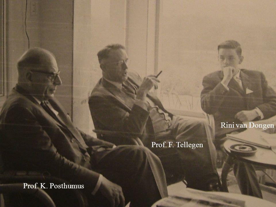 Prof. K. Posthumus Prof. F. Tellegen Rini van Dongen