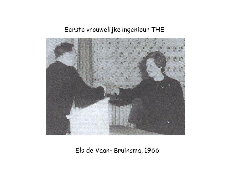 Els de Vaan- Bruinsma, 1966 Eerste vrouwelijke ingenieur THE