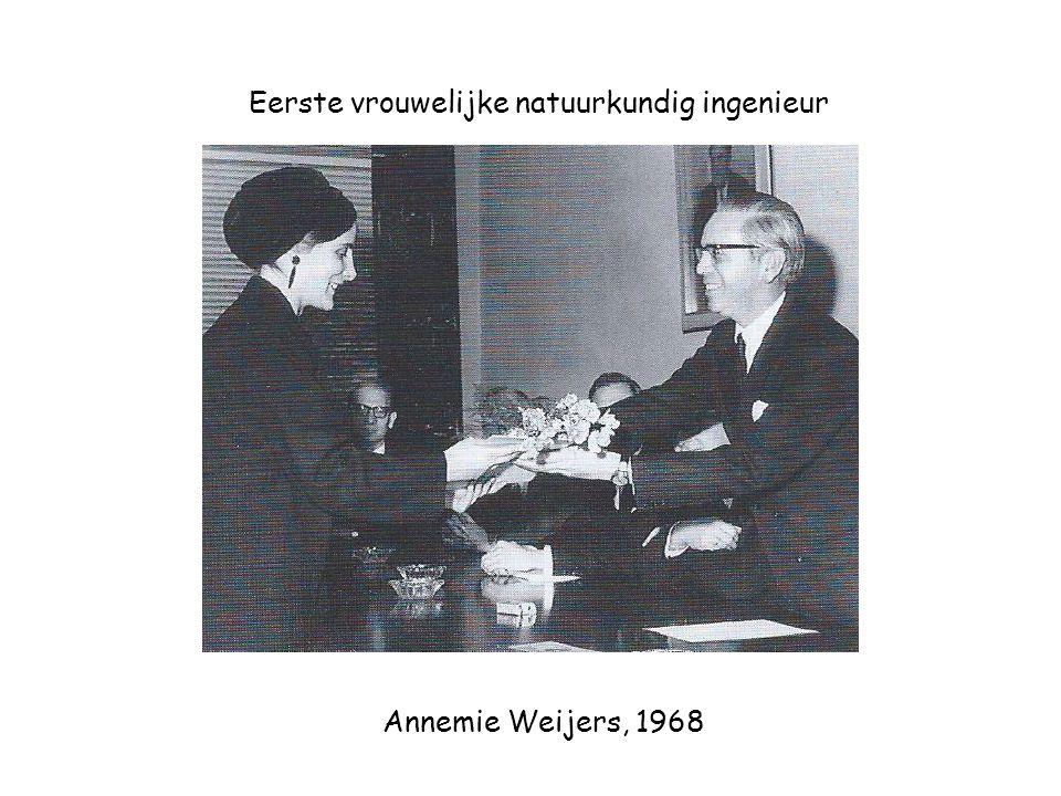 Eerste vrouwelijke natuurkundig ingenieur Annemie Weijers, 1968