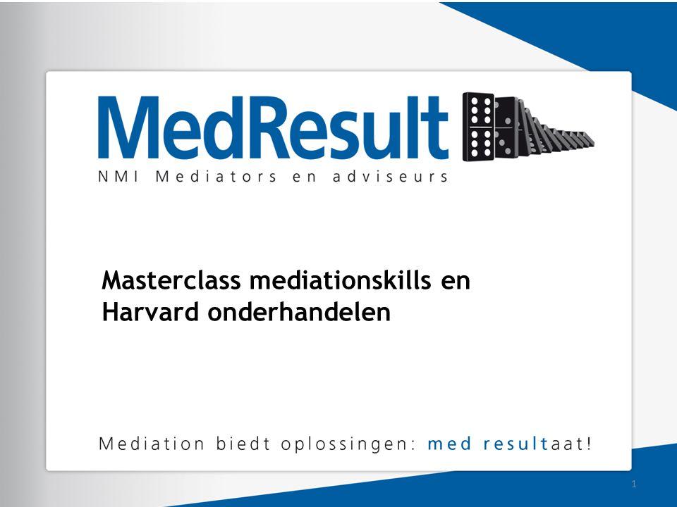 Masterclass mediationskills en Harvard onderhandelen 1