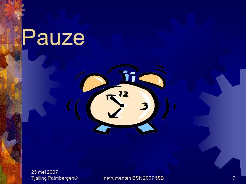 25 mei 2007 Tjalling Palmbergen©Instrumenten BSN 2007 58B6 Subset vragen Subset groep Bernadette Vragen 7.In hoofdstuk 16, blz 308, wordt gesproken over de gulden is gulden veronderstelling .