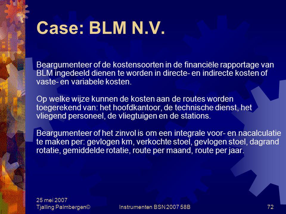 25 mei 2007 Tjalling Palmbergen©Instrumenten BSN 2007 58B71 Case: BLM N.V.