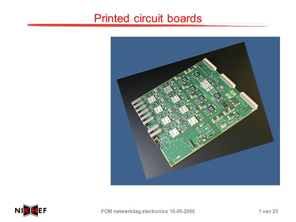 FOM netwerkdag electronica 10-05-20051 van 23 Printed circuit boards