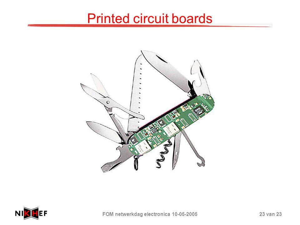 FOM netwerkdag electronica 10-05-200523 van 23 Printed circuit boards