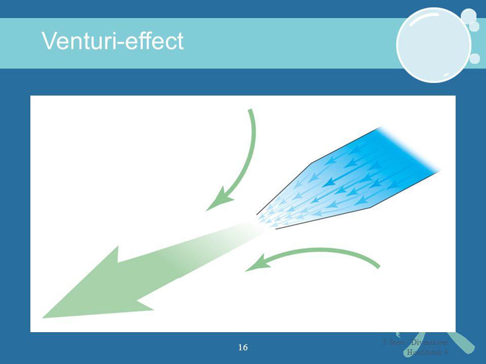 Venturi-effect 16 3 Sters / Divemaster Hoofdstuk 4