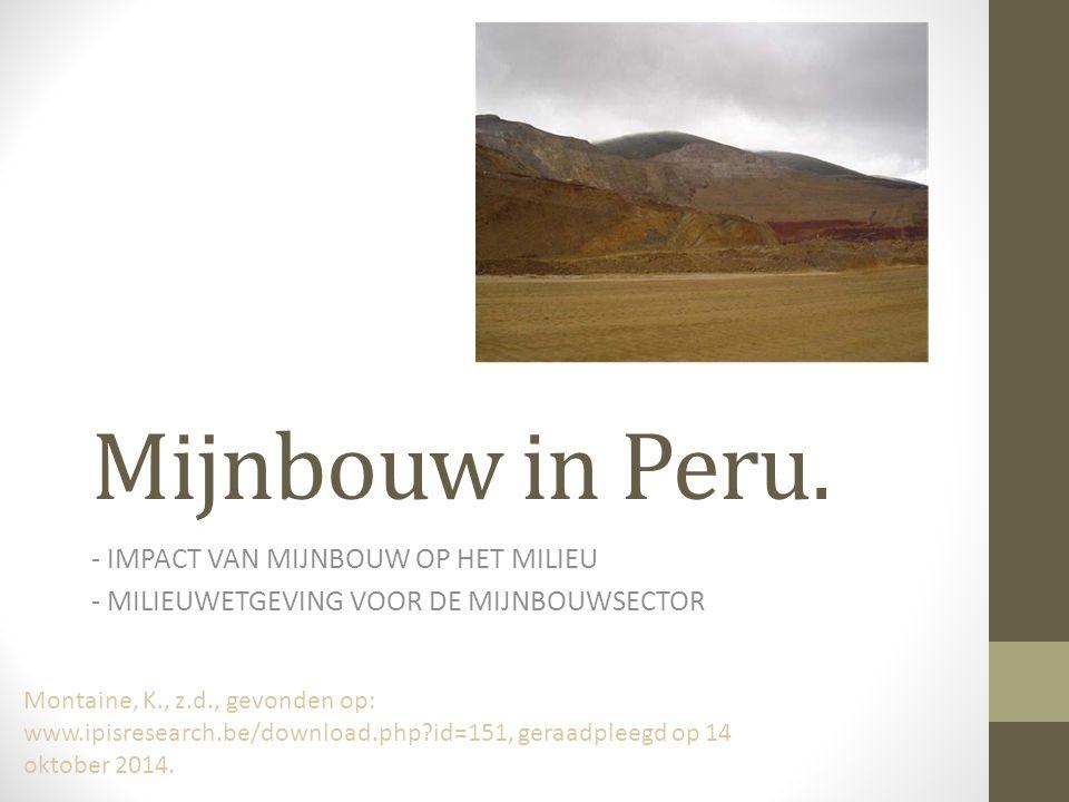 Mijnbouw in Peru.