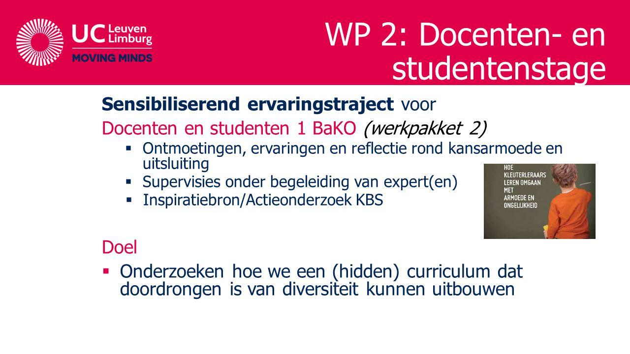 Sensibiliserend ervaringstraject voor Docenten en studenten 1 BaKO (werkpakket 2)  Ontmoetingen, ervaringen en reflectie rond kansarmoede en uitsluit
