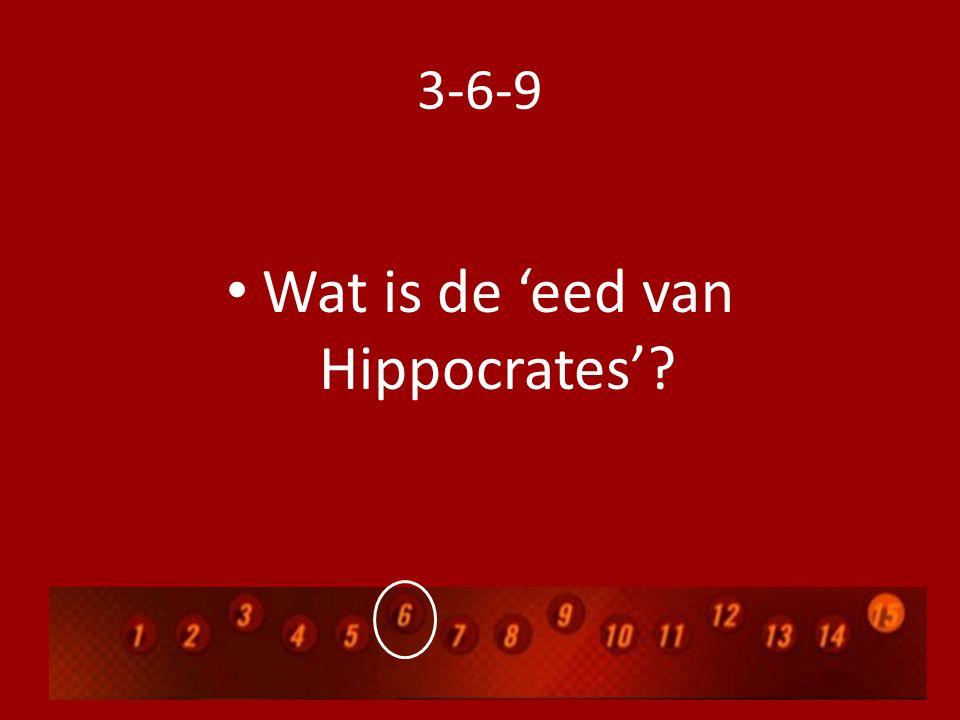 3-6-9 Wat is de 'eed van Hippocrates'?