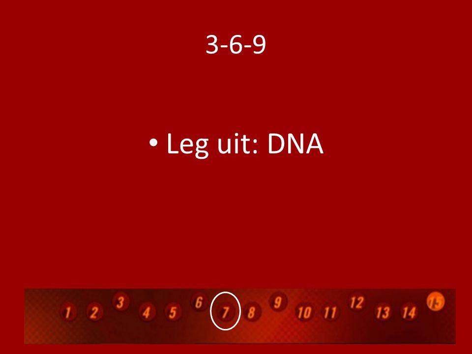 3-6-9 Leg uit: DNA