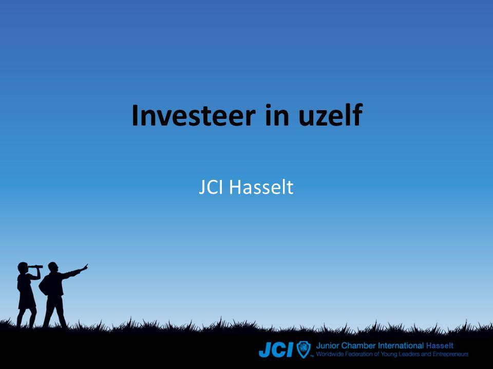 Wat is JCI NGO (Niet Gouvernementele Organisatie) >70 jaar oud Internationaal netwerk >170.000 leden >100 landen Tussen 18 en 40 jaar Actieve burgers & ondernemers Geen liefdadigheid