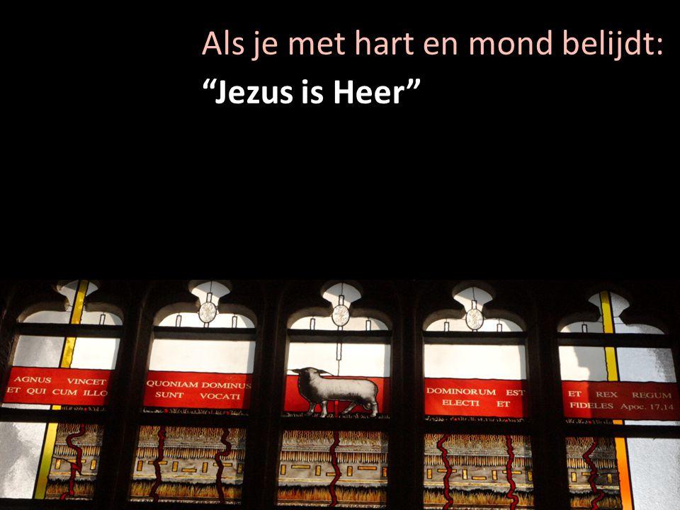 """Als je met hart en mond belijdt: """"Jezus is Heer"""""""