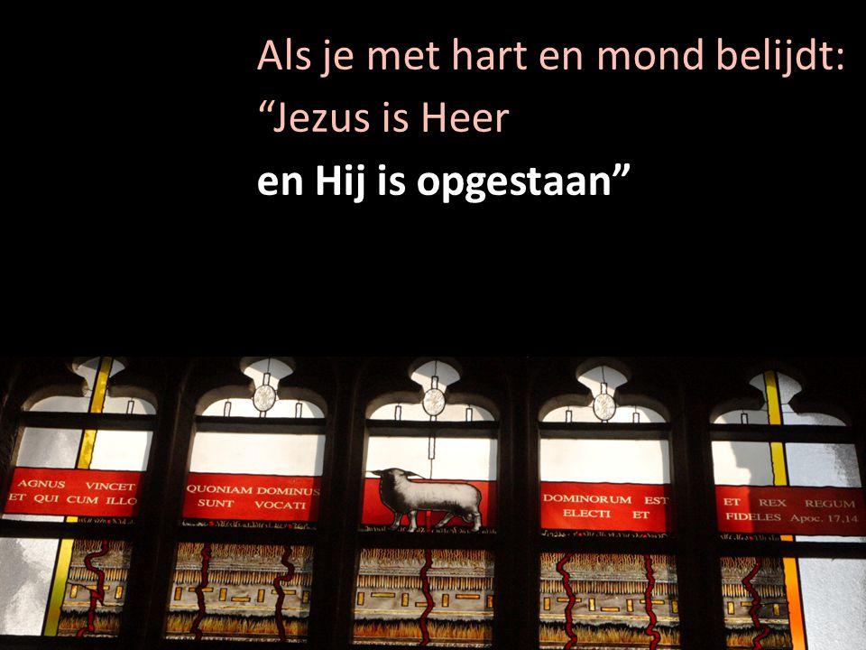 """Als je met hart en mond belijdt: """"Jezus is Heer en Hij is opgestaan"""""""