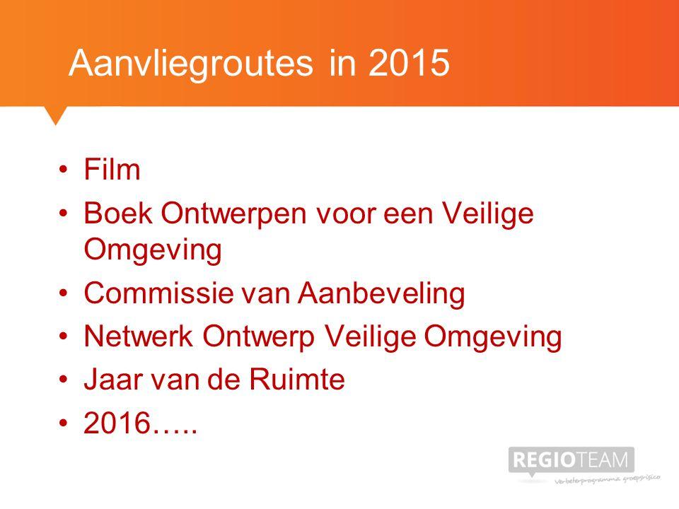 Aanvliegroutes in 2015 Film Boek Ontwerpen voor een Veilige Omgeving Commissie van Aanbeveling Netwerk Ontwerp Veilige Omgeving Jaar van de Ruimte 2016…..