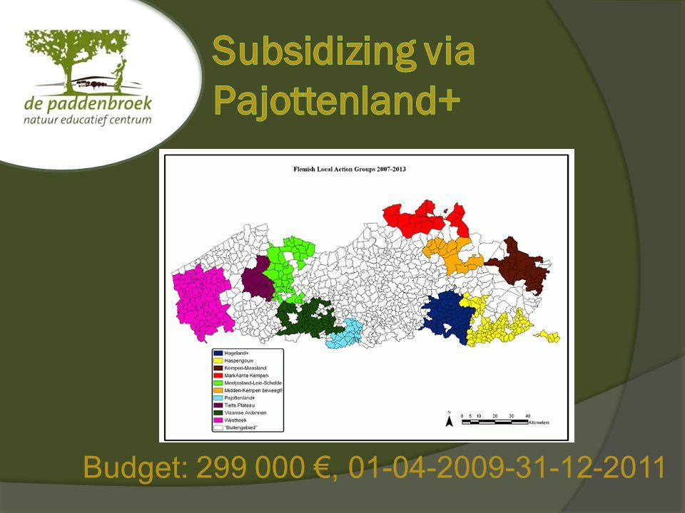 Budget: 299 000 €, 01-04-2009-31-12-2011